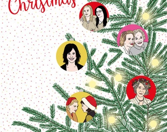 Ideal lesbian greeting card for Christmas