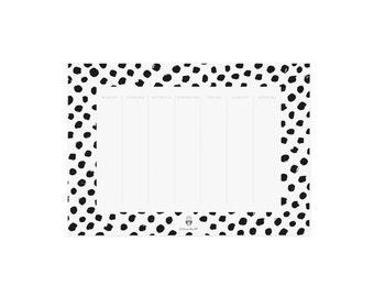 Weekly Planner block black dots