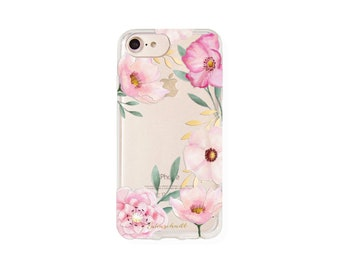 iphone 6, 6s, 7 and 8 case watercolor Flowers