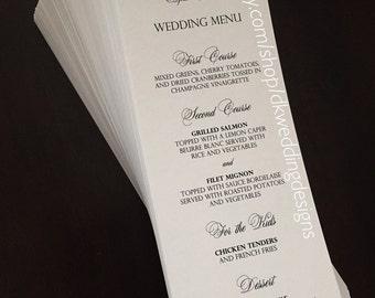 Wedding Menus / Menus / Dinner Menu