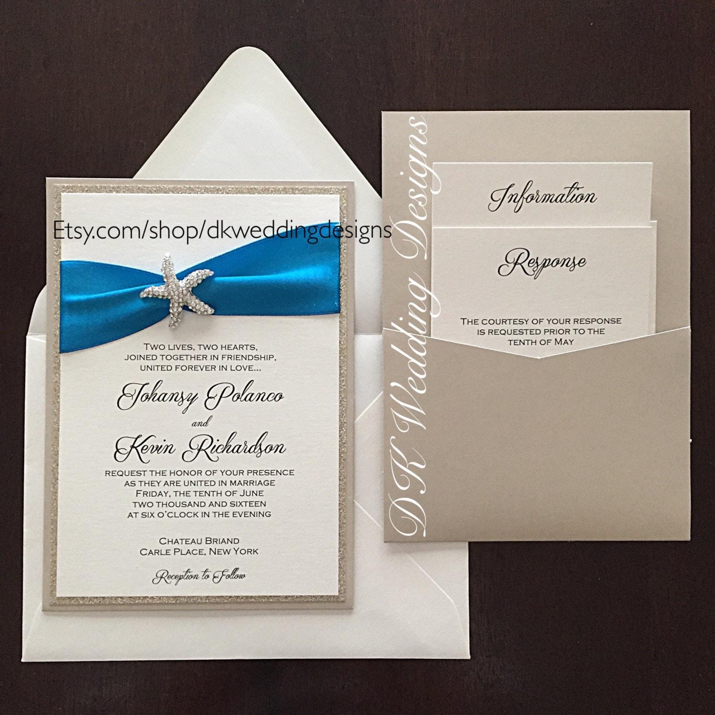 Etsy Beach Wedding Invitations