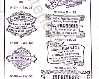 French Rubber Stamps Etsy