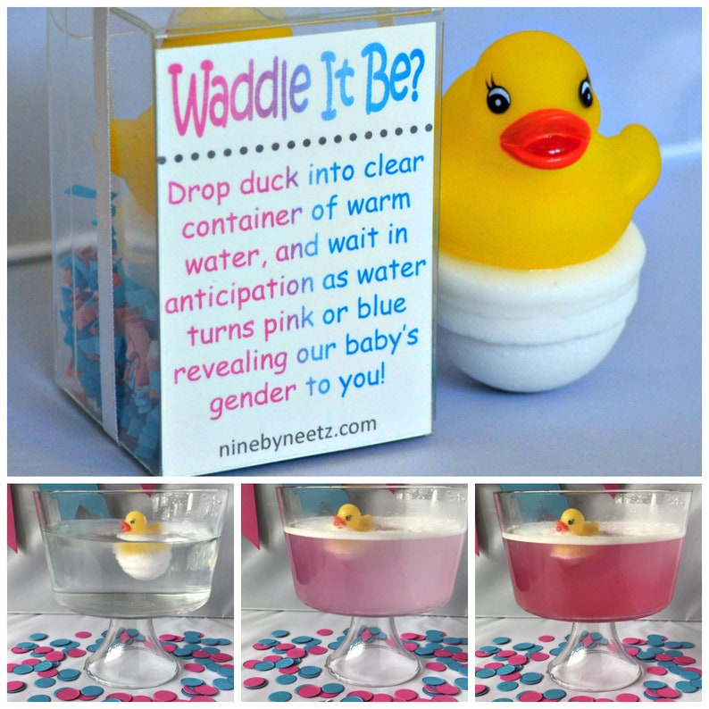 Waddle it Be Gender Reveal Rubber Duck Fizz Set of 2 image 0