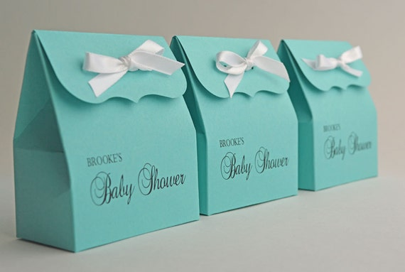 Personalized Blue Favor Bags With Ribbon Baby Shower 10 Etsy