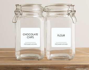 """Waterproof Pantry Labels Personalized Set of 12 2.5"""" Square 