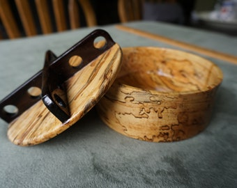 Spalted Maple Bowl with Fancy Cover