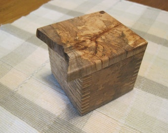 Spalted Maple Box with some Wild Grain!