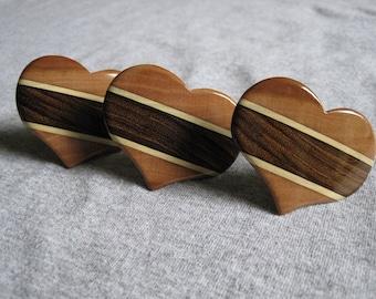 Heart shaped Hair Barrette