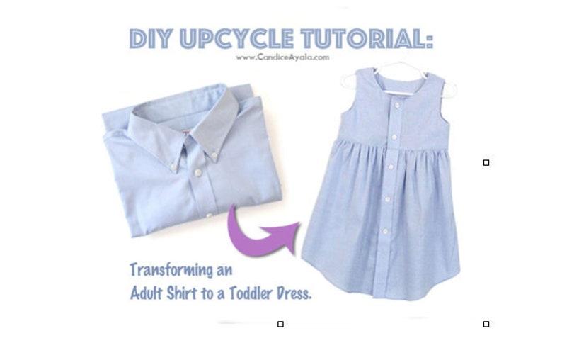 DIY Upcycled Shirt to Lined Dress TUTORIAL image 0