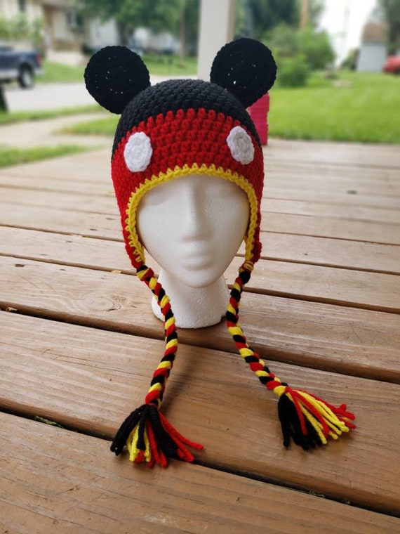 Crochet Mickey Mouse Beanie  bf99130f2bf