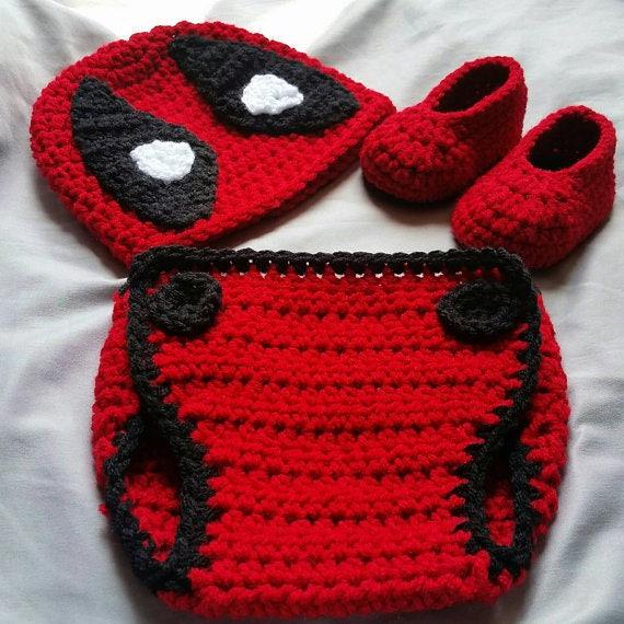 Pattern Only Crochet Deadpool Costume Etsy