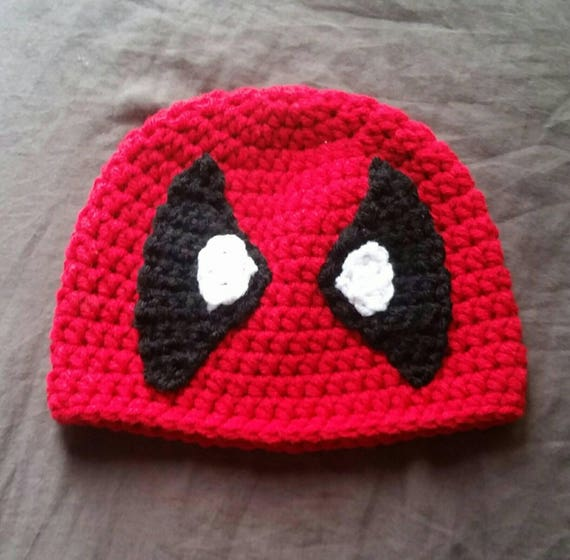 Pattern Only Crochet Deadpool Beanie  56bd84ad728