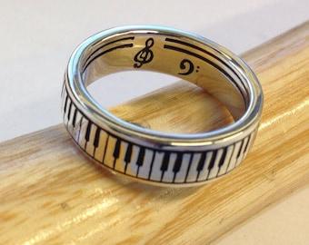 Piano Ring Silver 925