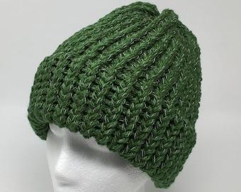 70f0a3f6651 Green knit hat
