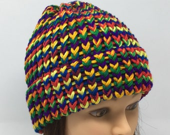 Loom Knit Hat Etsy
