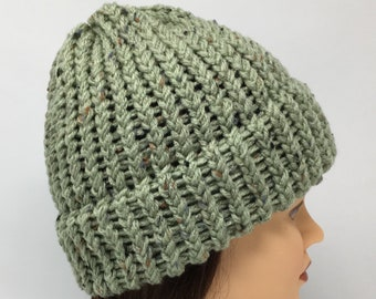 3ed7995f0fd Sage Green Knit Hat