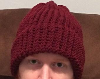 Burgundy winter hat  d18fbce15206
