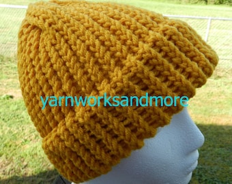 cd3ed4259eb Gold Knit Hat