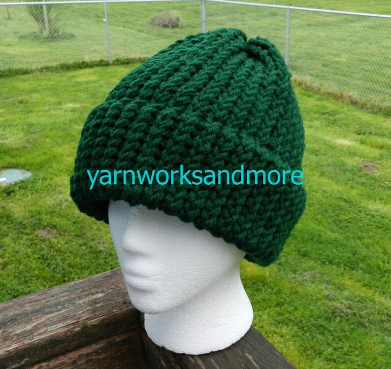 Hunter Green Beanie Hunter Green Knit Hat Hunter Green  ad120560da7