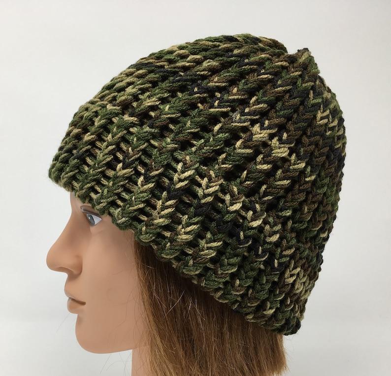 e317a5092e6 Camo Beanie Camo Knit Hat Camo Winter Hat Warm Hat Knit