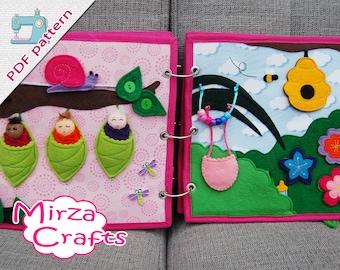 PDF Pattern & tutorial - Quiet book page Fairybook: Fairy babies