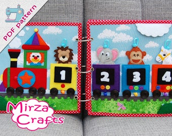 PDF Pattern & tutorial - 2 Quiet book pages Circusbook: Circus train