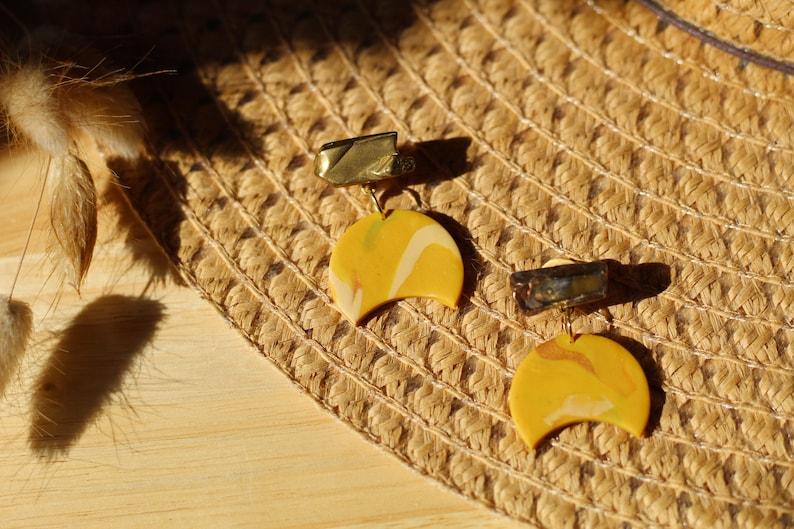 Minimal Statement Earrings Boho Statement Earrings Mothers Day Gift Moon Statement Earrings Horseshoe Earrings Southwestern Earrings