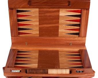 Solid Exotic Hardwood Backgammon Board