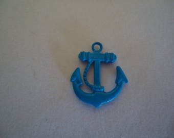 Pendant small anchor Navy Blue metal tart