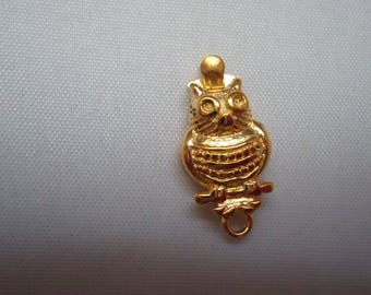 Gold OWL necklace and bracelet clasp