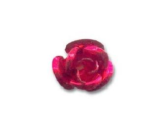 Pink metal 6 MM red (set of 10)