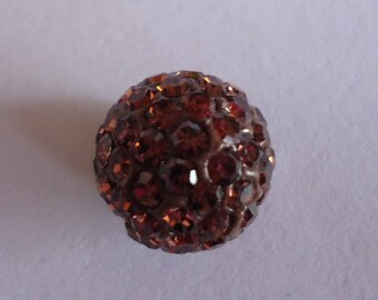 Topaz with Rhinestone disco ball beads