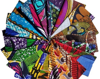 Quilters Quality 10 FAT EIGHTHS African fabrics, RANDOM selection fun pack.