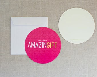 """Charitable Donation Thank You Cards - """"Amazing Gift"""" - Set of 10"""