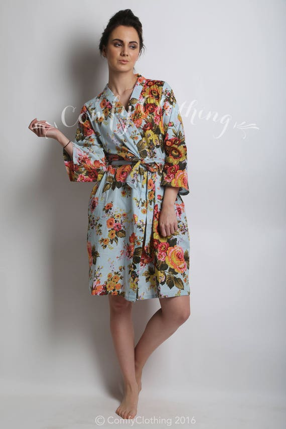 Cotton Bridesmaid Robe Floral Robe Japanese Clothing Womens  a3d443f80