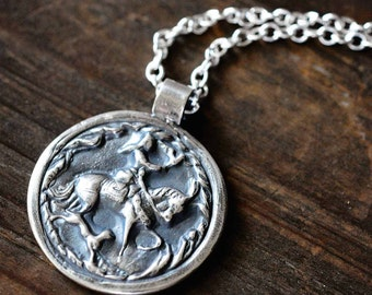 Epona necklace etsy personalized silver horse necklace epona goddess pendant equestrian style horse lover necklace celtic jewelry horse and hound aloadofball Gallery