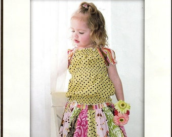 242ca57fd0 Pink Fig Number 5 Sewing Pattern Girl s Stripwork Skirt No Phyical Pattern  Measurement Instructions Only Size 6 Months to 10 Years