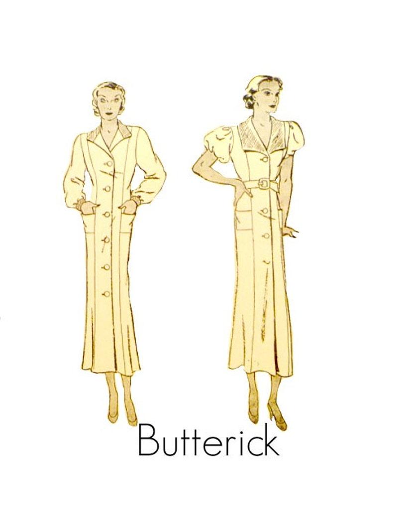 6642bf36b Años 30 patrón de costura Vintage princesa costura vestido