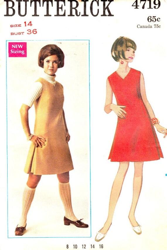 Vintage años 60 de sin mangas Jumper patrón talla 14 Busto 36 | Etsy