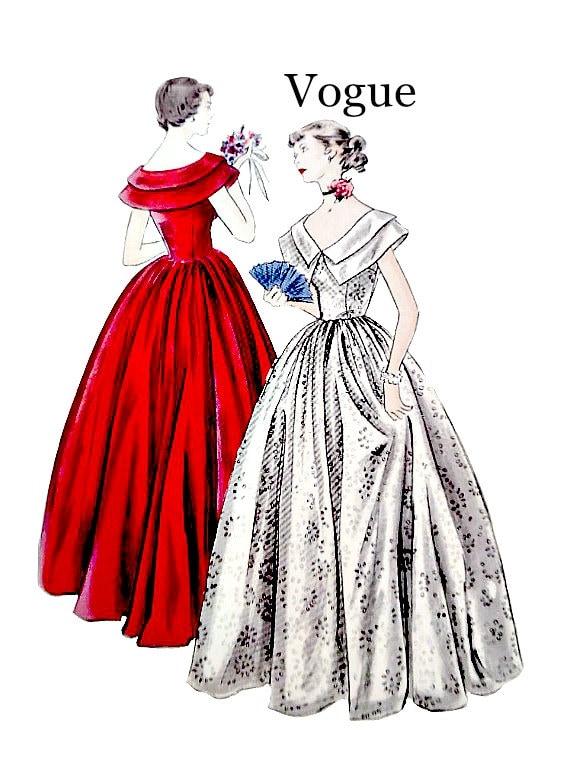 40 Vintage Vogue 2165 costura patrón fácil de coser vestido | Etsy