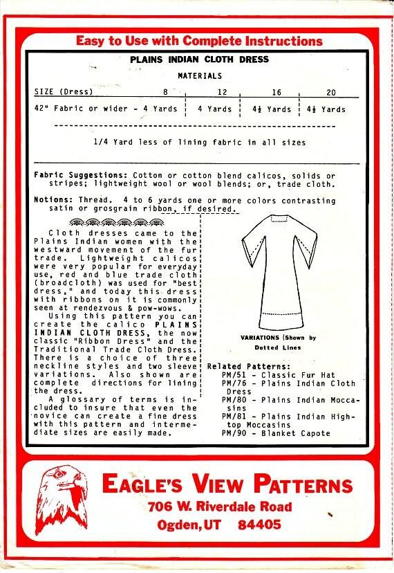 Paño del indio de Llanos o patrón de costura de traje de | Etsy