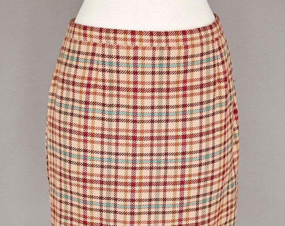 Vintage Fred Lansac Paris Wool Skirt