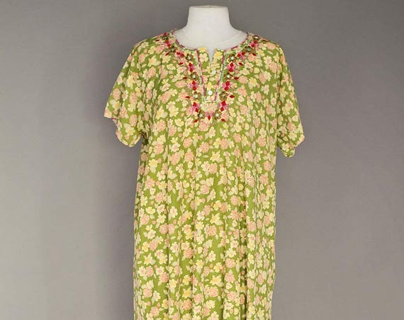 Vintage Flower Long Dressing Gown