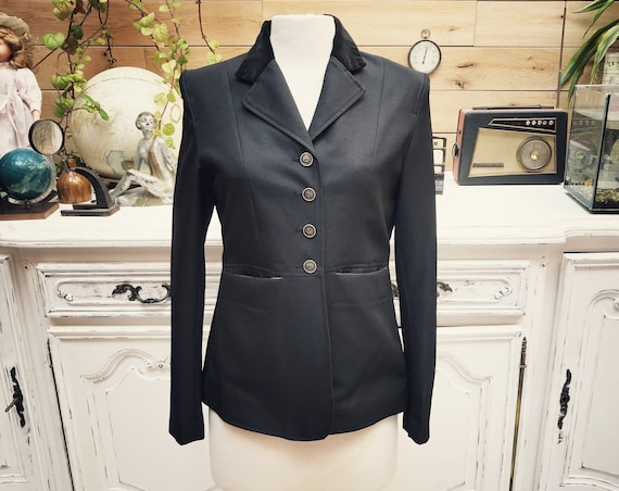 Vintage Black Classic Jacket Size Small