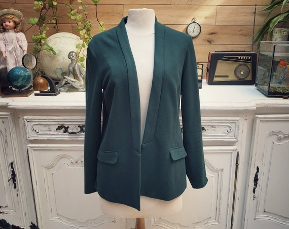 Vintage Bottle Green Cotton Jacket Size 42/Large