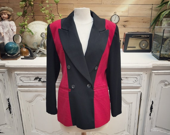 Vintage 1980's Black and Red Jacket