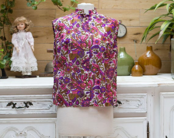 Vintage 1960's Sleeveless Handmade Top