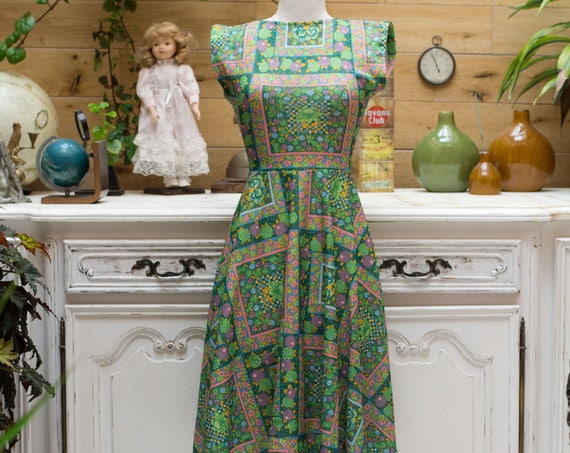 Vintage 1960's Handmade Summer Dress