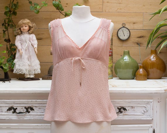 Vintage John Galliano Silk Top in Powder Rose
