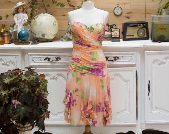 Vintage Silk Dress by Diane Freis